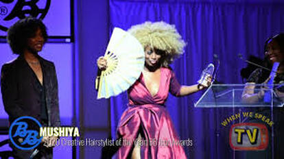 Mushiya Tshikuka formerly of We TV's Cutting It In the ATL wins the BB Icon Award.