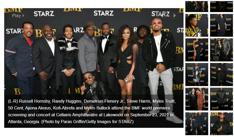 """STARZ'S New Original Series """"BMF"""" Celebrates World Premiere with Star-Studded Red Carpet Screening and Concert in Atlanta"""