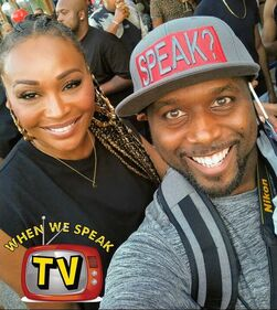 Cynthia Bailey (The Real Housewives of Atlanta) and Jermaine Sain (When We Speak TV)