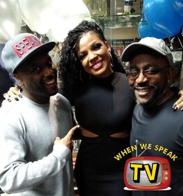 Syleena Johnson with When We Speak TV (Jermaine Sain and Chester Lawrence)