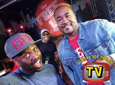 Canton Jones with When We Speak TV (Jermaine Sain and Chester Lawrence)