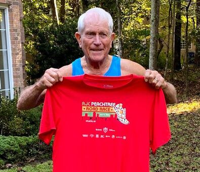 AJC Peachtree Road Race Finisher's Shirt Revealed