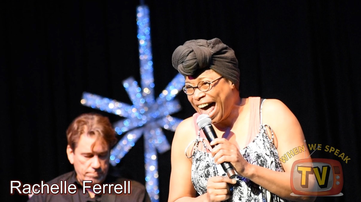 Rachelle Ferrell performing at the Riverfront Jazz Festival in Dallas, Texas